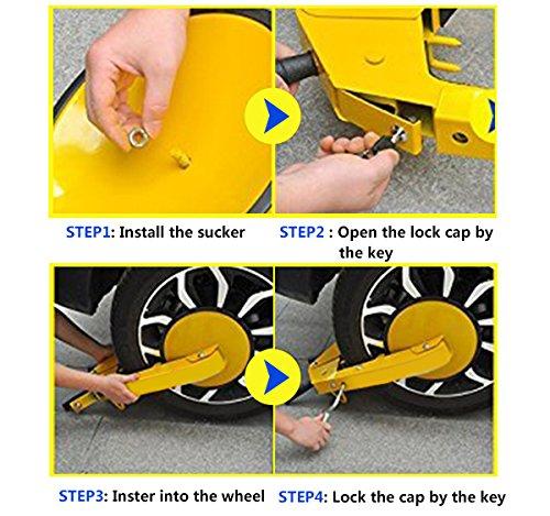 COOCHEER Heavy-duty Car Tire Wheel Lock Anti-theft Lock (large) by COOCHEER (Image #1)