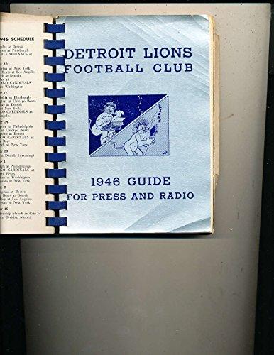 1946 Detroit Lions NFL Press Radio Guide (bound binder ed)