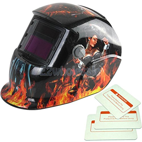 lady zorro - Solar Welding Helmet Auto Darkening Welder Protect Face Mask w/ Grind Function by e2wholesale