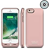 iPhone Battery Case, Venue [Apple Certified] Slim External Protective Portable Extra 120% Charging Case for iPhone Juice Bank Power Pack Bank (Rose Gold -iPhone 6/6S, iPhone 6/6S)