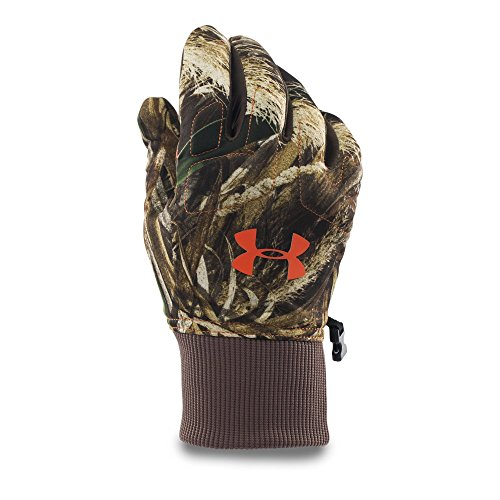 Under Armour Men's Scent Control Armour Fleece Gloves, Realtree Max 5 (900), - Hunting Gloves Armour Under