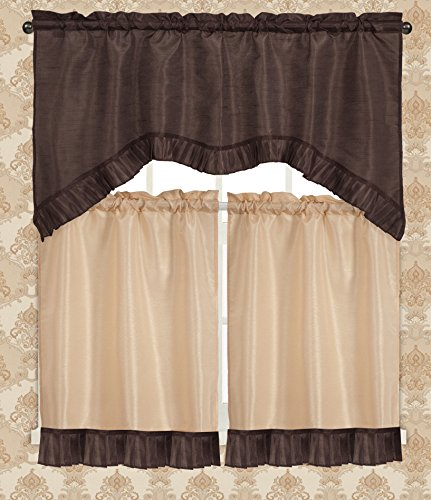 (RT Designers Collection Bermuda Ruffle Kitchen Window Curtain,)
