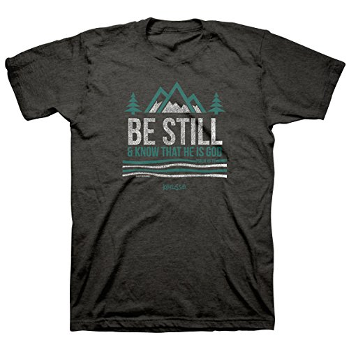 Kerusso-Be Still and Know Adult T-Shirt-Large - Christian Fashion Gifts