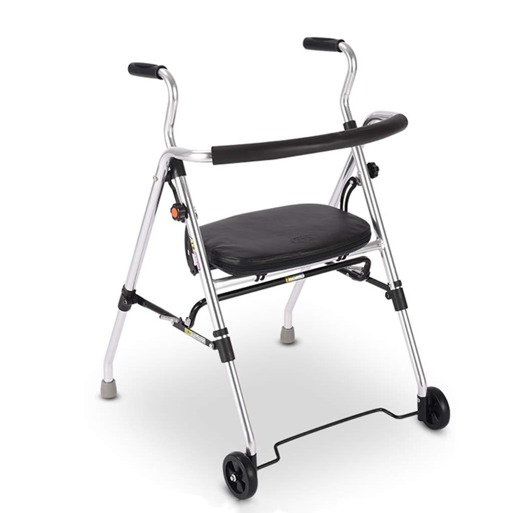 トミカチョウ 歩行器 B07MDGYR7S ウォーカー買い物かご食料品小カート台車老人買い物かご折りたたみ式ブレーキ手押し式ホームライト四輪車に座るお年寄りにプレゼントを贈る100kg耐えることができる Silver 歩行器 (Color : Silver) Silver B07MDGYR7S, タカギムラ:c21f3f6e --- a0267596.xsph.ru