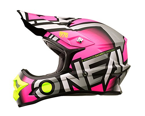 Amazon.es: ONeal 3 Series Womens Radium Helmet (Gray/Pink/Hi-Viz, Medium) by ONeal