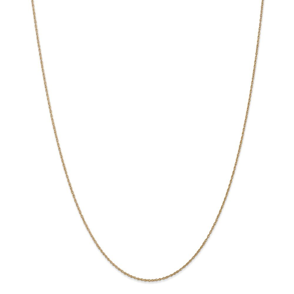 and Sterling Silver Necklaces 14 to 24 Mireval Rope Chain 14K Yellow 14K White Gold