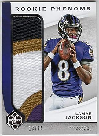 best website ad5e9 c1cc9 Amazon.com: Lamar Jackson 2018 Panini Limited Rookie Phenoms ...