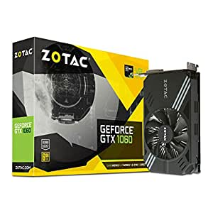 ZOTAC GeForce  GTX 1060 Mini, ZT-P10600A-10L, 6GB GDDR5 VR Ready Super Compact Gaming Graphics Card