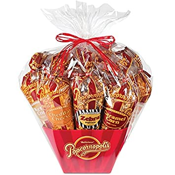 Amazon popcornopolis 7 large cones variety popcorn gift basket popcornopolis 7 large cones variety popcorn gift basket gluten free includes one large cone negle Image collections