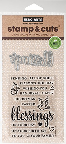 Hero Arts Blessings Stamp and (Blessings Clear Acrylic Stamps)