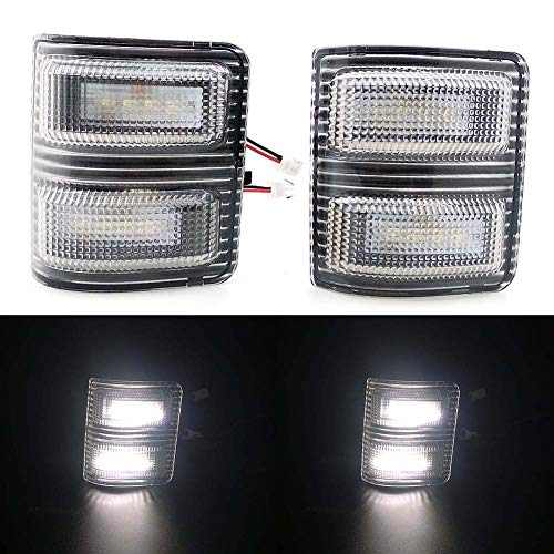 (Xinctai 2PCS LED Side Mirror Marker Light Turn Signal Lamp for 2008 to 2016 Ford F250 F350 F450 F550 Super Duty Pickup Truck, Smoke Lens/Clear Lens (Clear Lens-White Light))