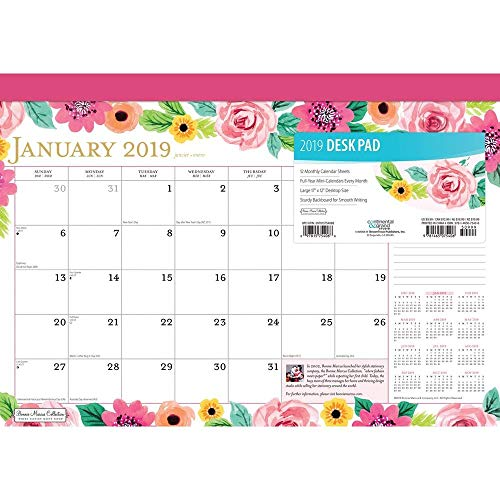 2019 Year to Bloom Marcus Desk Pad, Desk Pads by BrownTrout