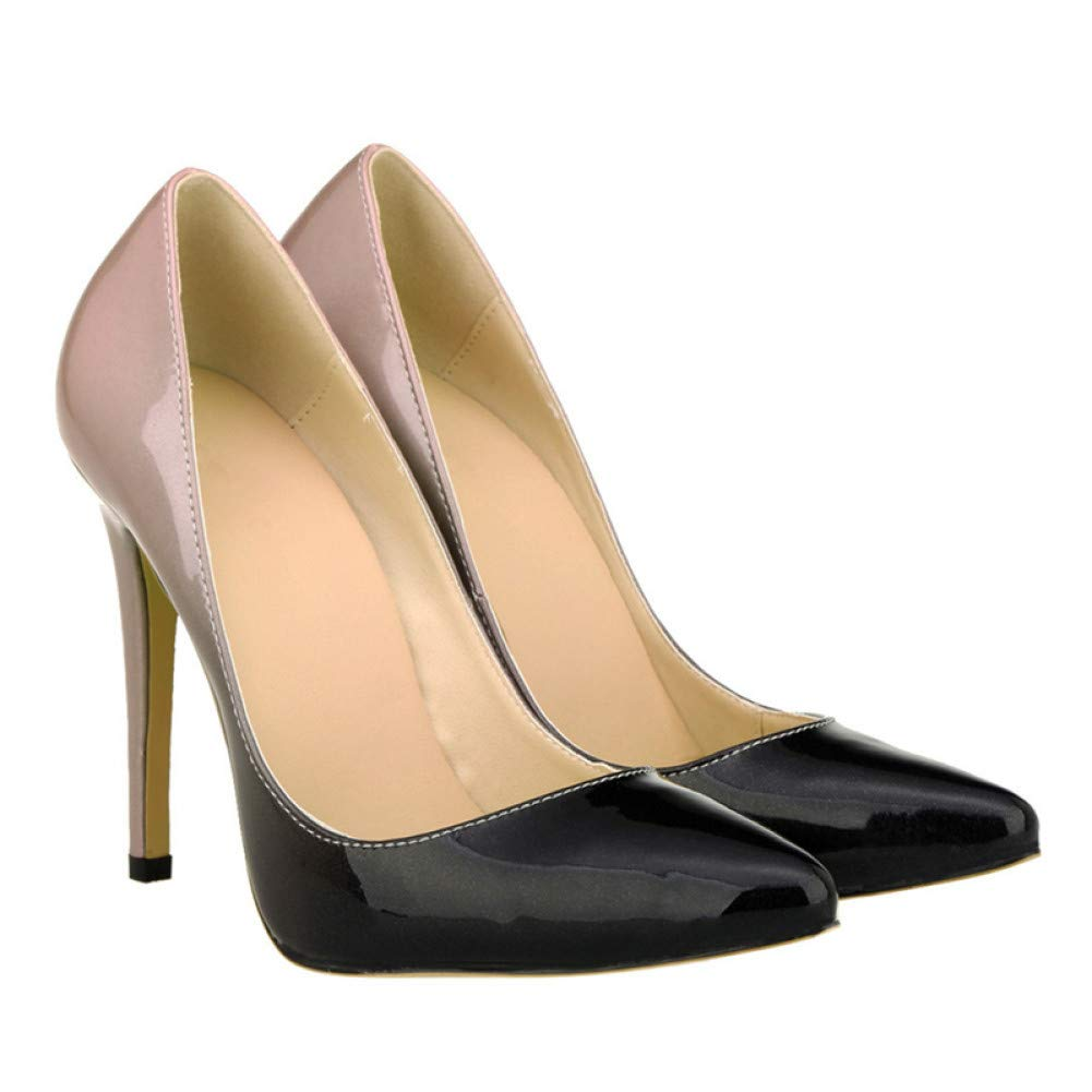 7155dcd31411a Ai Ya-liangxie 11 cm Spitze Zehe Lack Heel Mode Frühjahr Frau Sexy ...