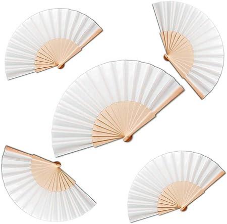 Medida: 42,5 cm / 23 cm,Material: Madera y poliéster blanco,Precio para el lote de 20 abanicos, se s