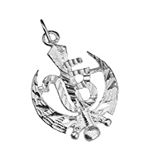 Real Sterling Silver 925 Sikh Khanda Charm Sterling Silver 1 God Pendant Jewelry