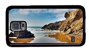 Hipster Personalized custom Samsung Galaxy S5 Cases Sand Beach Malibu PC Black for Samsung S5