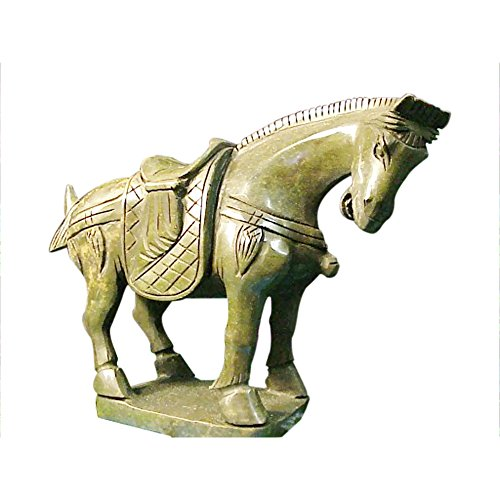 g Vintage Chinese Figurine Green Jade Horse Standing - Medium Size (Vintage Horse Figurines)