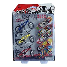 Remeehi Party Favors Mini Finger Sports Skateboards with Endoluminal Metallic Stents/educational Finger Toy 3 Bicycles 5 Skateboards(send components and parts)