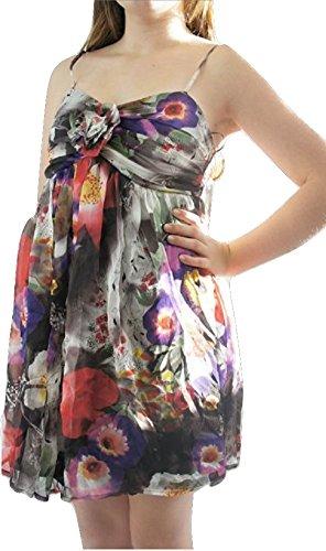 LipsyDamen Kleid, Einfarbig Mehrfarbig Black White Grey Red Purple
