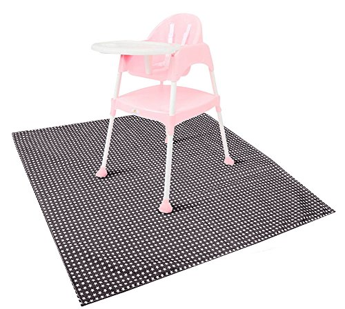 Zicac Baby High Chair Floor Mat Protector Washable Splat Mat (Coffee)