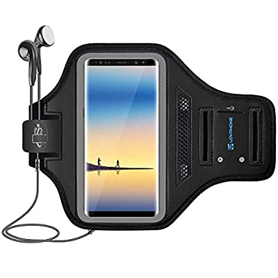 LOVPHONE Note 8/Note 9 Armband Sport Running Exercise Gym Case for Samsung Galaxy Note 8/Note 9,Fingerprint Sensor Access Supported with Key Holder & Card Slot,Water Resistant and Sweat-Proof by LOVPHONE