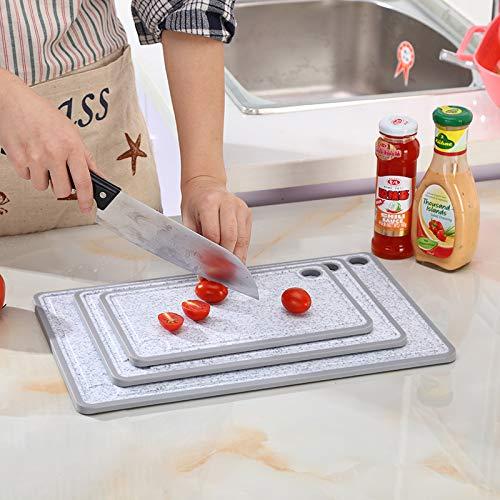 Tabla de cortar de plástico (3 piezas), juego de tabla de cocina ...