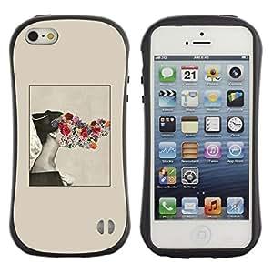 "Hypernova Slim Fit Dual Barniz Protector Caso Case Funda Para Apple iPhone SE / iPhone 5 / iPhone 5S [Rosas Beige Primavera Profundo Significado Señora""]"