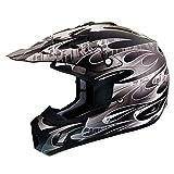 THH Helmets TX-12 Matte Black/White Large Helmet