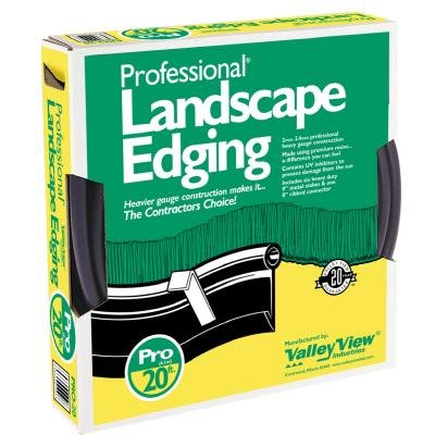 Valley View PRO-20 20-Foot Professional Black Landscape Edging (Pro Lawn Edging)