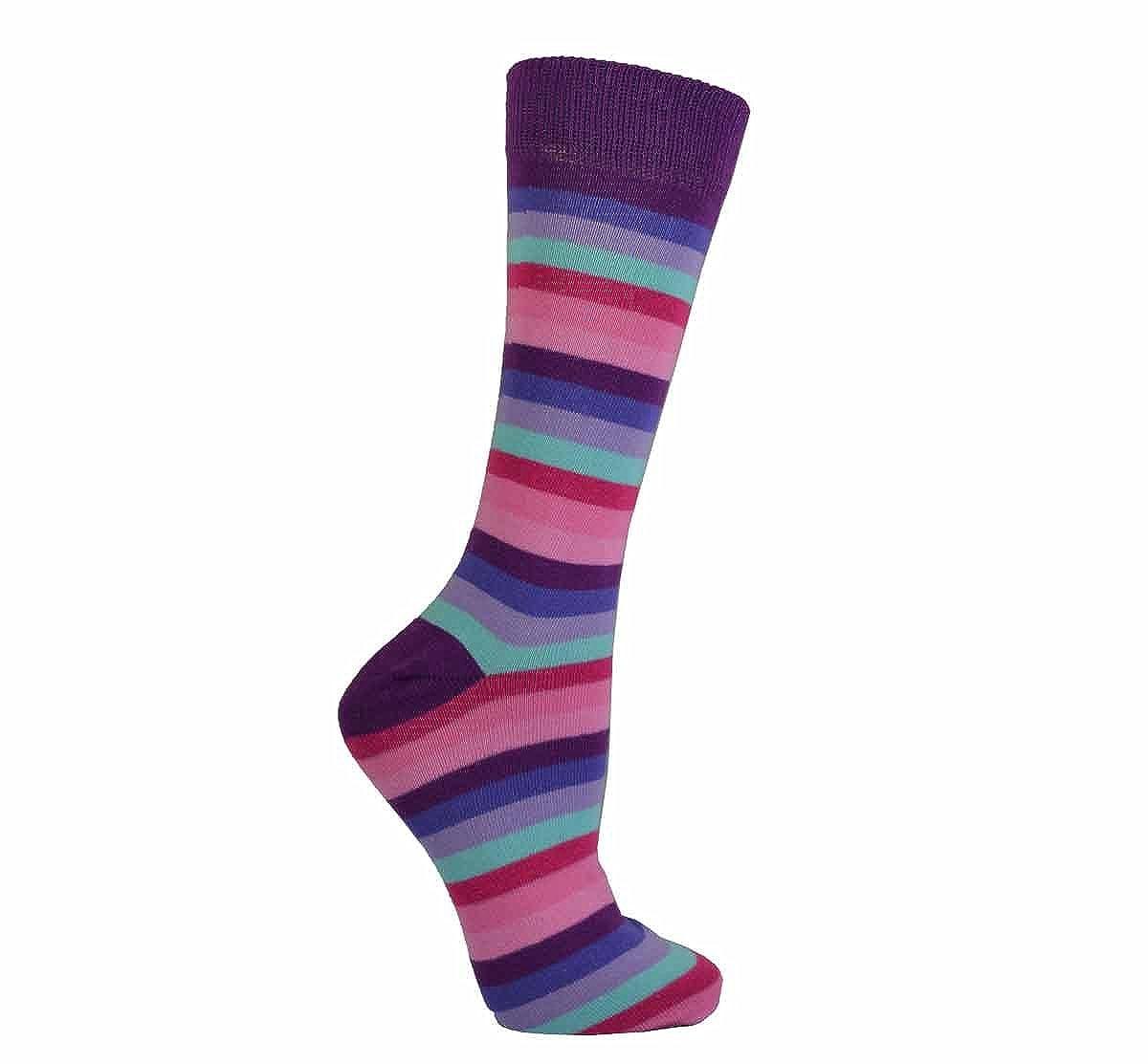 Designer Gents Essential Striped Socks Comfortable Mens Socks Cotton Rich Breathable