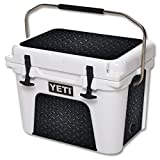 MightySkins Protective Vinyl Skin Decal for YETI Roadie 20 qt Cooler wrap cover sticker skins Black Diamond Plate For Sale