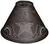 Colonial Tin Works Metal 2″X 6″X 4″ Star Lampshade