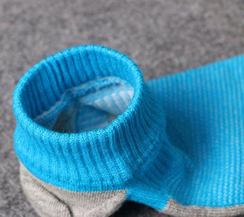 Weilai Coton Chaussettes Hommes Doigt Atheltic Orteil Non-présentation Casual Chaussettes Coupées Faible Motif 5 Pack 2