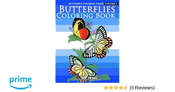 Amazon.com: Butterfly Coloring Pages - Butterflies Coloring Book ...