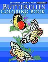 Butterfly Coloring Pages - Butterflies Coloring Book (Butterfly Coloring Books For Adults) (Volume 1)
