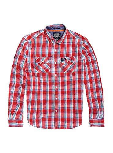 Washbasket Hombre Superdry Superdry Camisa Rojo Camisa Washbasket SxRdBqYFSw