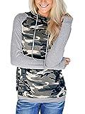 Naier Womens Hooded Sweatshirt Pullover Hoodie Striped Sweaters
