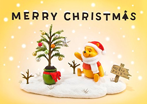 Disney Winnie the Pooh Christmas Story 3D Lenticular Greeting Card / Disney Christmas 3D Postcard (Winnie The Pooh Stories From The Heart)