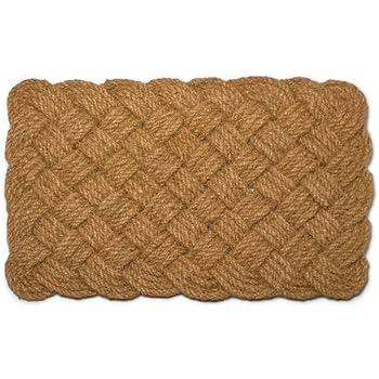 Amazon Com Abbott Collection Coir Woven Rope Doormat