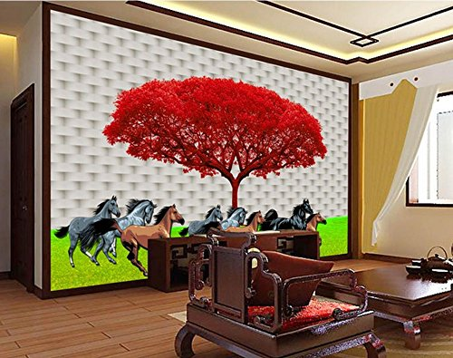Nevso 3D Wallpaper Mural Sticker 3D Customized Wallpaper Home Decoration Simple Modern 3D Tree Background Wall Painting Template 3D Name Wallpapers 350cmX250cm