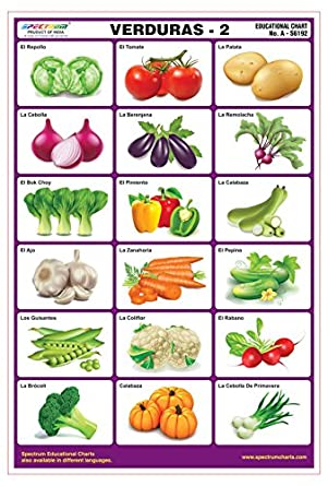 Amazon.com: Spectrum Spanish Language Vegetables-2