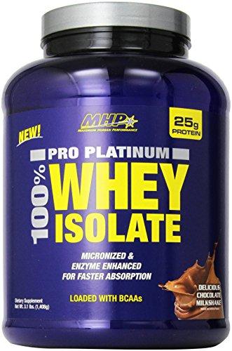 MHP Pro Platinum 100 Whey Isolate Delicious Milkshake, Chocolate,3.1 Pound