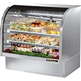 True Mfg TCGG-48-S-LD, 48 Wide Curved Glass Refrigerated Deli Case