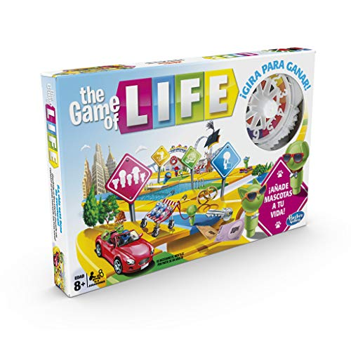 Hasbro Gaming Juego The Game Of Life, Juego De Mesa Para La Familia De 2 A 4 Jugadores, Hasbro E4304105