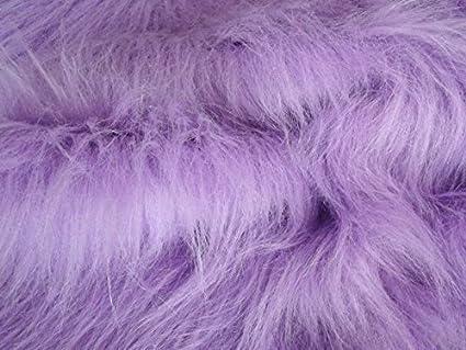 "LONG PILE Blossom Pink Fur Fabric 60/"" 150cm wide Plain Material 75mm pile"