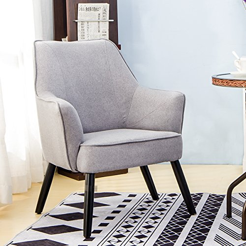 Harper&Bright Designs Fabric Accent Chair Contemporary Style Arm Chair Metal and Legs (Design Arm Chair)