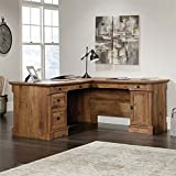 Sauder 420606 Palladia L-Shaped Desk, L: 68.74' x W: 65.12' x H: 29.61', Vintage Oak finish