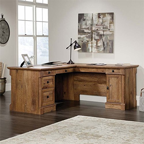Sauder 420606 Palladia L-Shaped Desk, L: 68.74