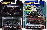 Hot Wheels Retro Entertainment Batman vs Superman Batmobile & Classic 1966 Batmobile