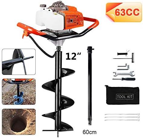 [해외]ECO LLC One Man Earth Auger63CC 2 Cycle Full Crankshaft Engine + 23`` Extention Rod / ECO LLC One Man Earth Auger63CC 2 Cycle Full Crankshaft Engine + 23`` Extention Rod